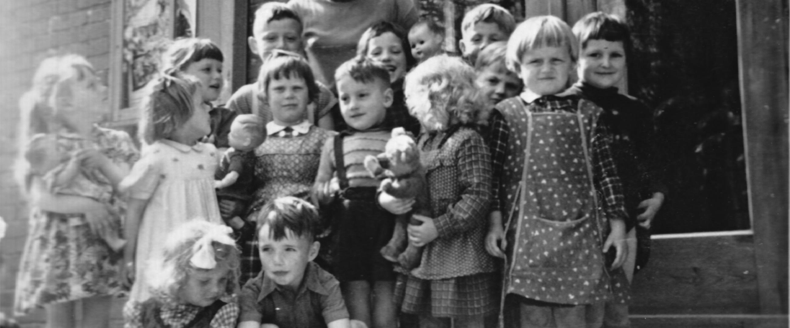 Der Kindergarten in Laeven um 1957.