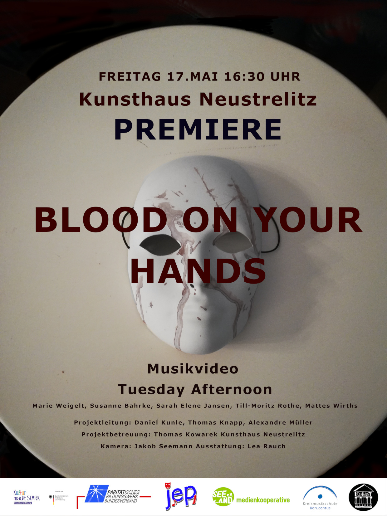 "Premiere des Musikvideos ""Blood On Your Hands"" der Band Tuesday Afternoon."