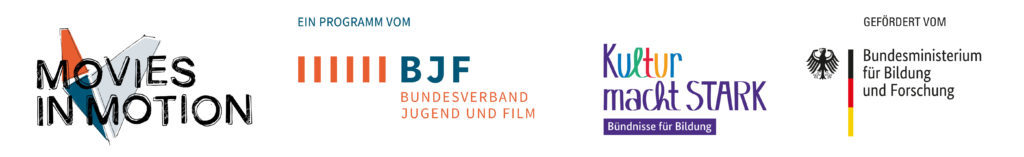 Logos Movies in Motion BJF BMBF Kultur macht stark
